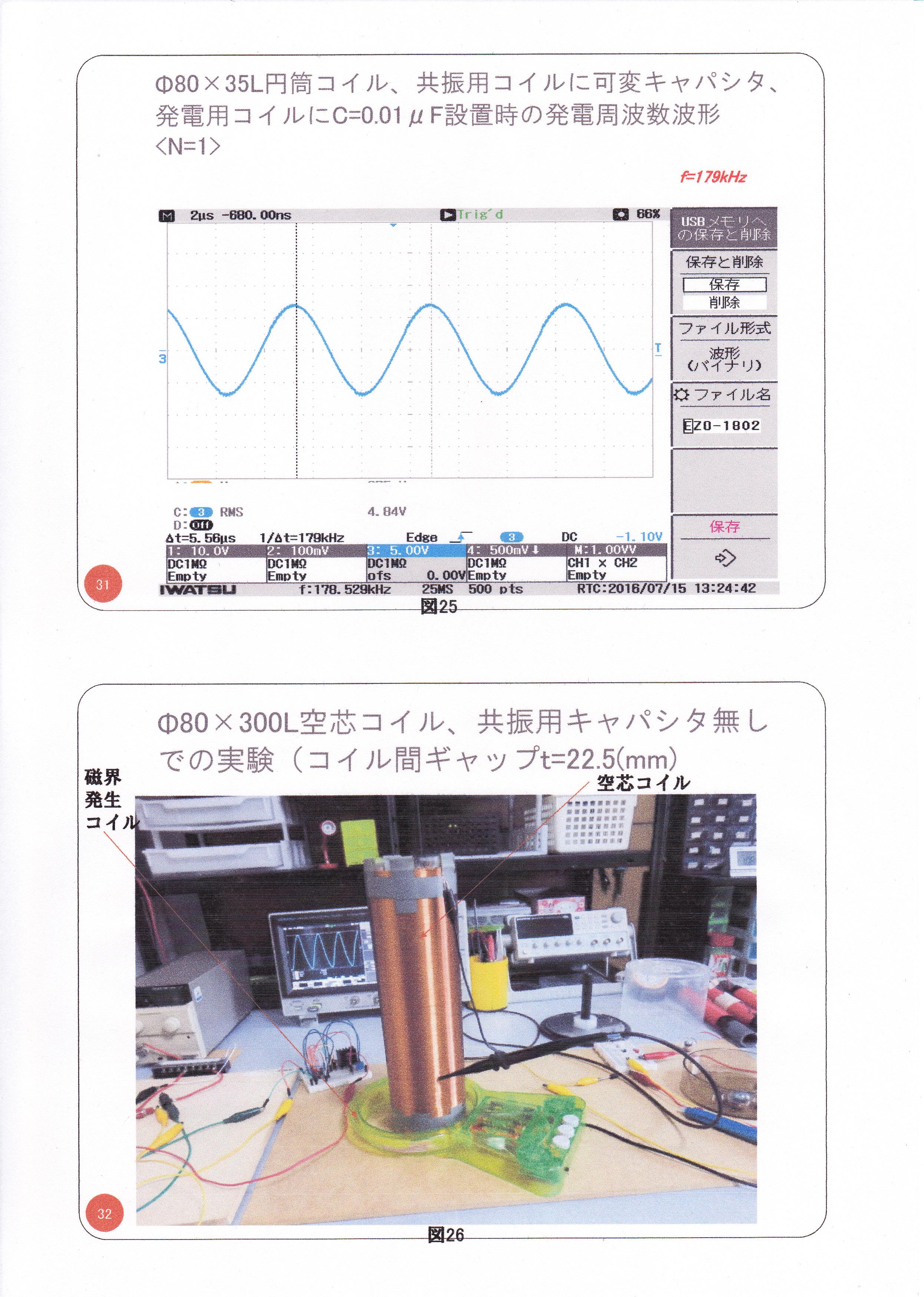 静止型発電機の基礎研究02(漏れ磁束コンバーター)16