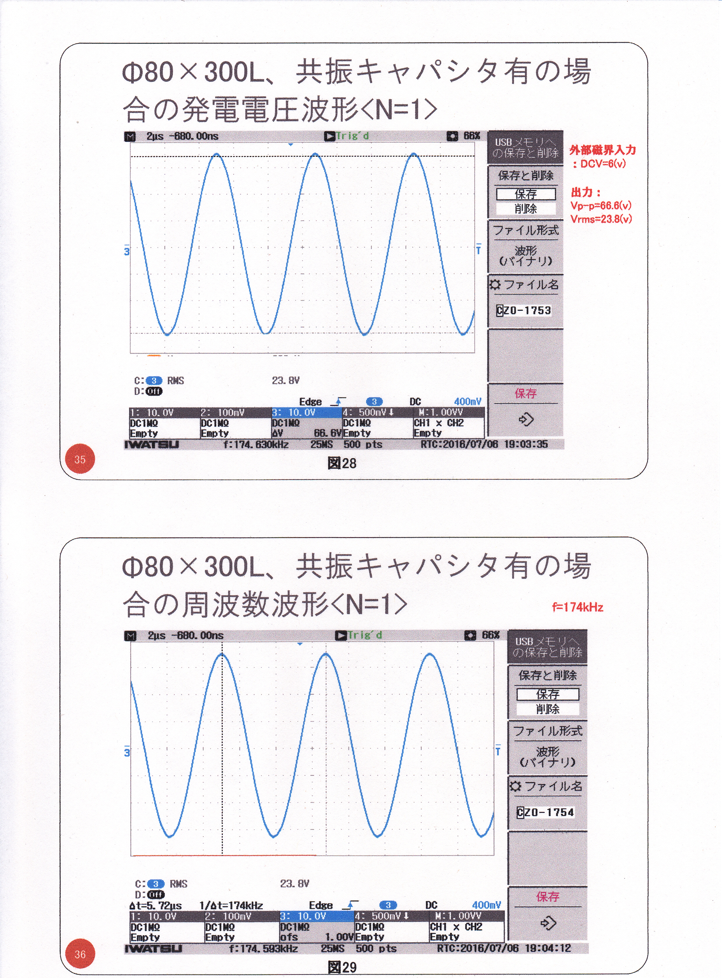 静止型発電機の基礎研究02(漏れ磁束コンバーター)18